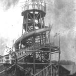 Toboggan im Aufbau, Prater 117 (heute 67 und 68), 1910