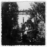 Karl Schaaf und Ehefrau Helene auf ihrem Dachgarten