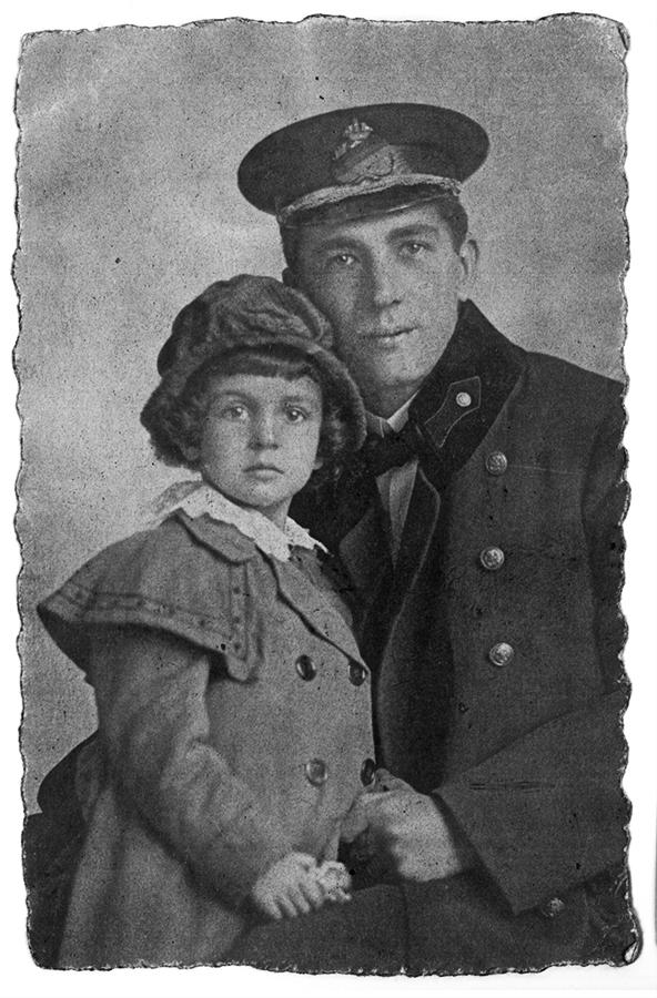 Sohn Karl und Enkeltochter Rosa