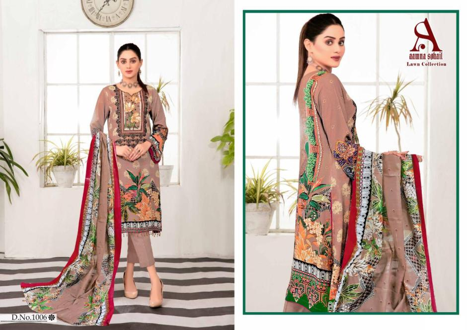 aamna sohail lawn collection wholesale price surat at pratham exports