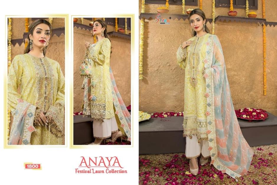 shree fabs anaya festival lawn collection suits catalogue wholesale price