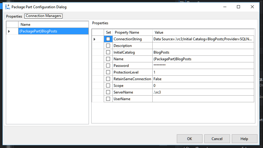 My Thoughts On SSIS 2016: SSIS Control Flow Package Parts -1