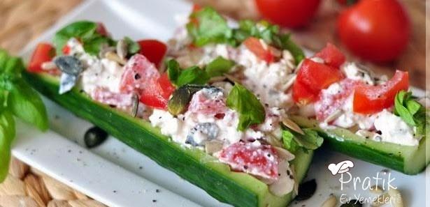 Peynirli Salatalık Sandalı