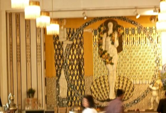 Goldener Klimt dining room at the Weissler Hotel