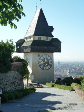 The Uhrturm standing guard over the city