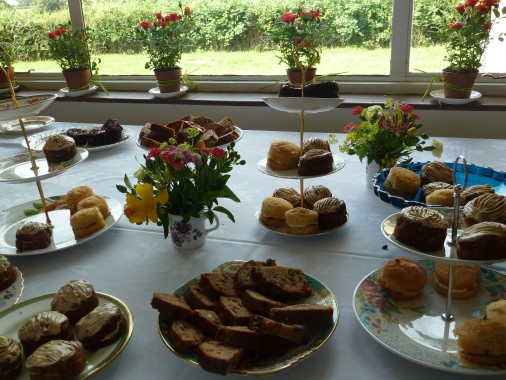 a splendid array of cakes
