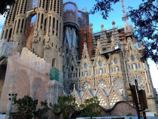 The Sagrada Familia- still building