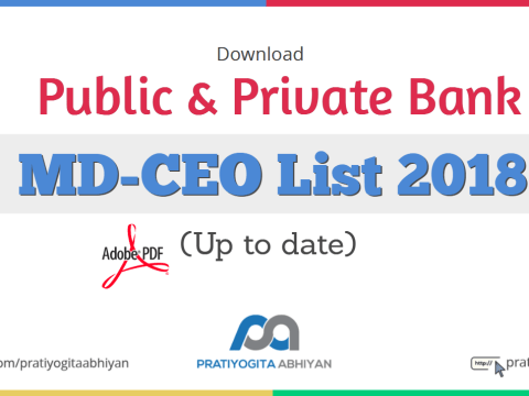 Public & Private Bank MD-CEO List 2018