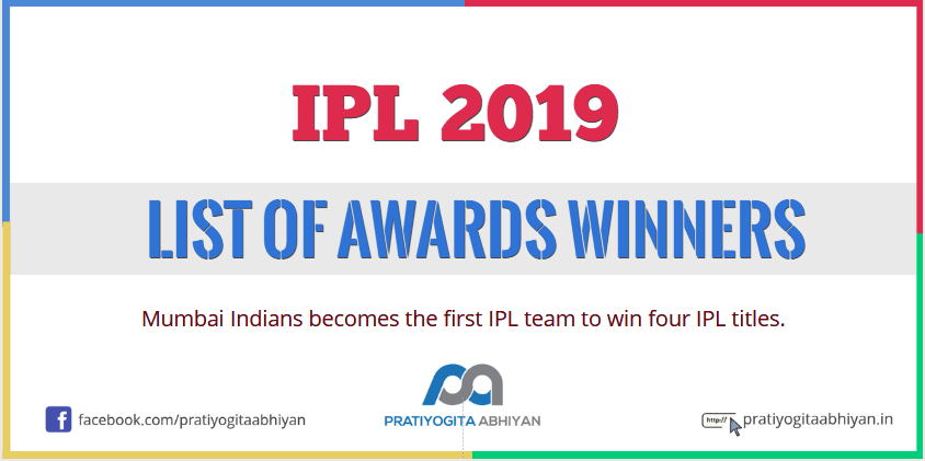 IPL 2019 List of Awards Winners