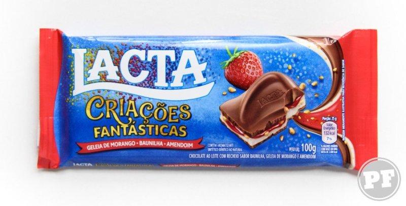 Lacta Criações Fantásticas: Morango, Baunilha e Amendoim por PratoFundo.com