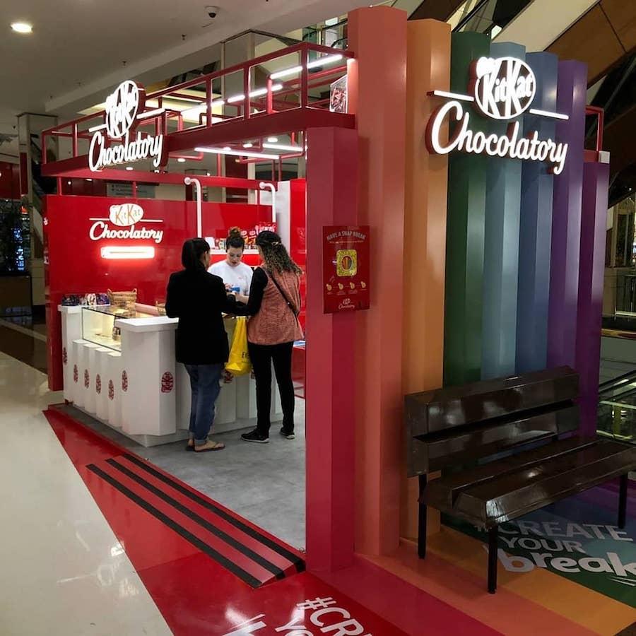 Chocolatory Kit Kat: dois espaços