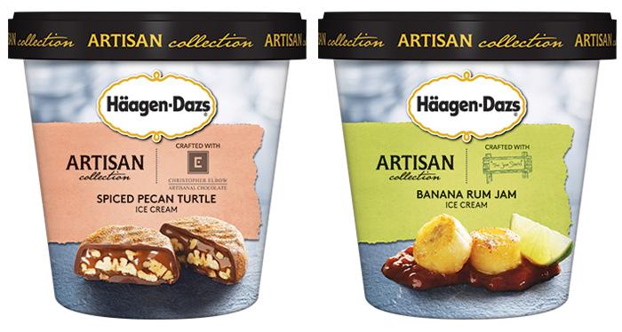Häagen-Dazs: spiced pecan turtle e banana rum jam
