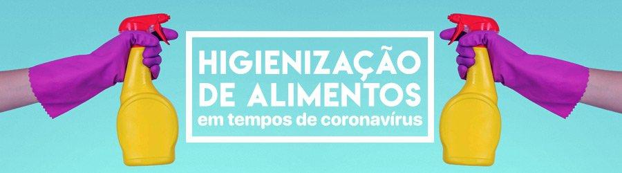Banner sobre Higienização de Alimentos