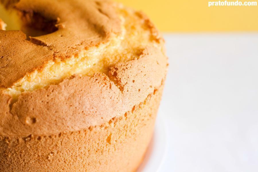 Bolo Chiffon Cake de Yuzu (Limão Japonês)