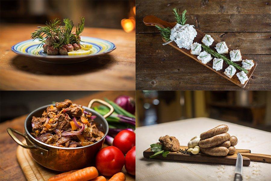 Montagem com 4 fotos de pratos em estilos diferentes da sexta temporada do chef's table