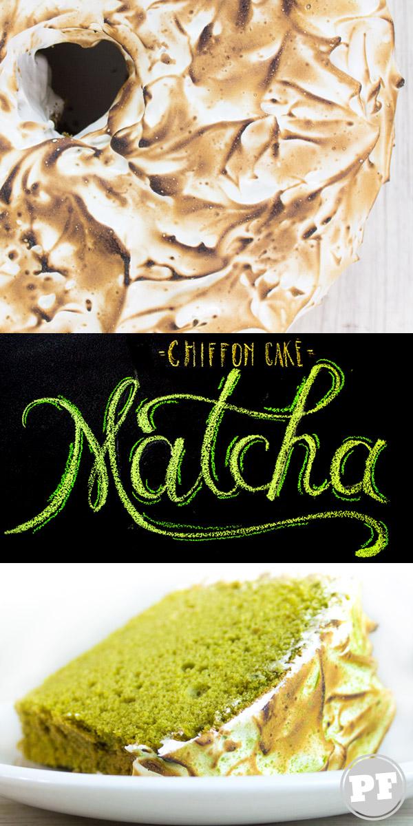 Chiffon Cake de Matcha com Merengue Suíço by PratoFundo.com