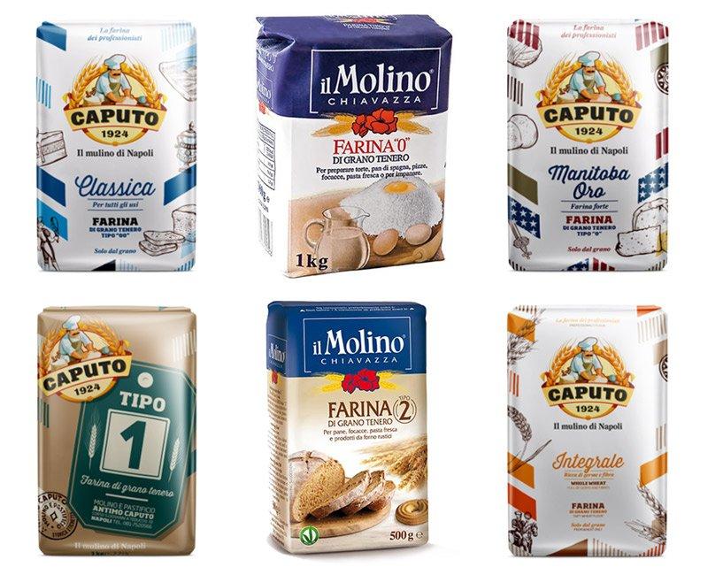 Exemplos de farinhas da Itália