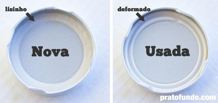 Diferenças na tampa de vidro para esterilização: antes do uso e depois do uso, a borracha mudar de formato