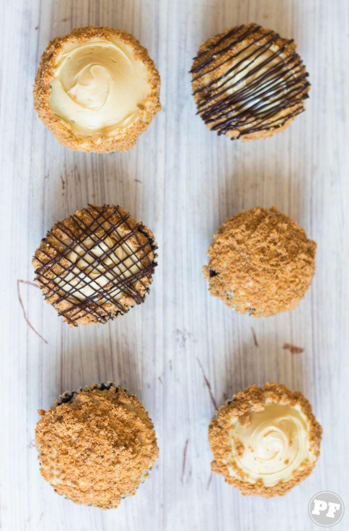 Cupcake de Manteiga de Amendoim e Paçoca por PratoFundo.com