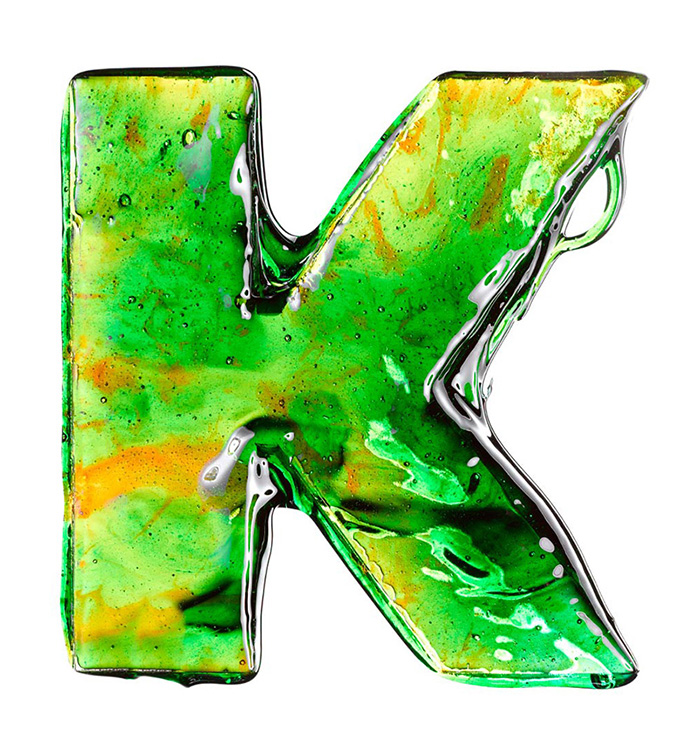 The Candy Alphabet: Alfabeto Doce - K