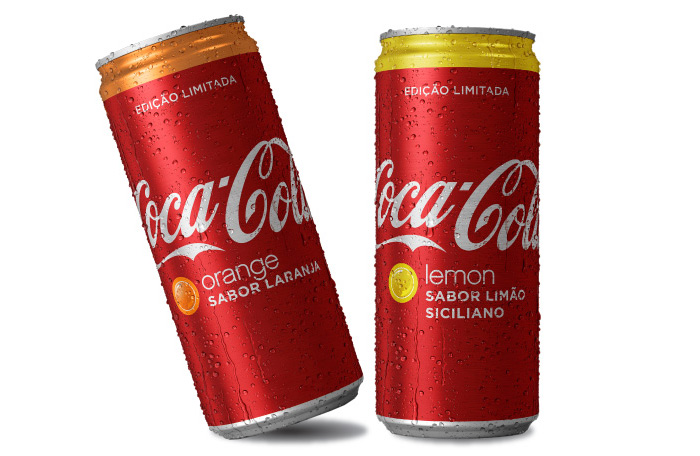 Coca-Cola nos Sabores Laranja e Limão Siciliano por PratoFundo.com