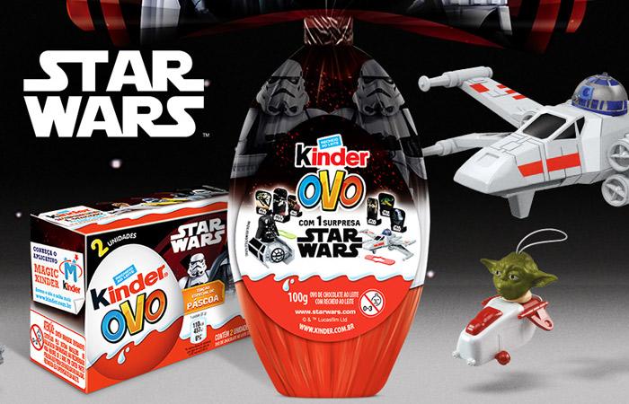 Kinder lança Ovo de Páscoa com tema de Star Wars