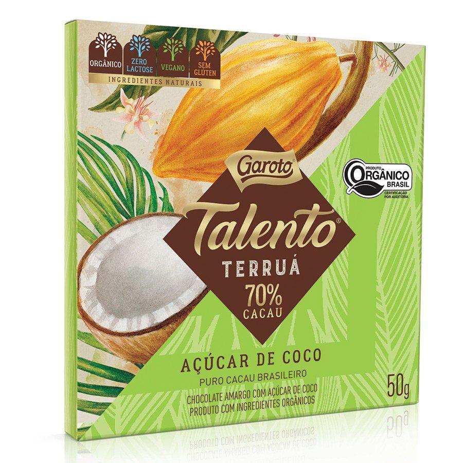 Embalagem do Talento Terruá de Açúcar de coco