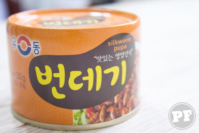 Petisco de Bicho da Seda Coreano