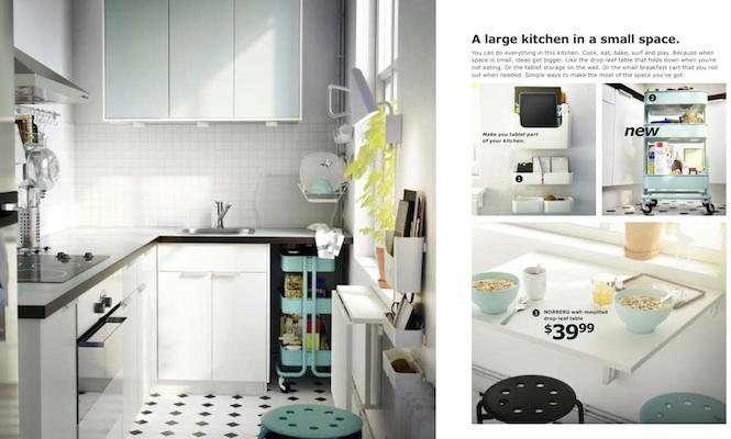 Cozinha planejada em tons de azul