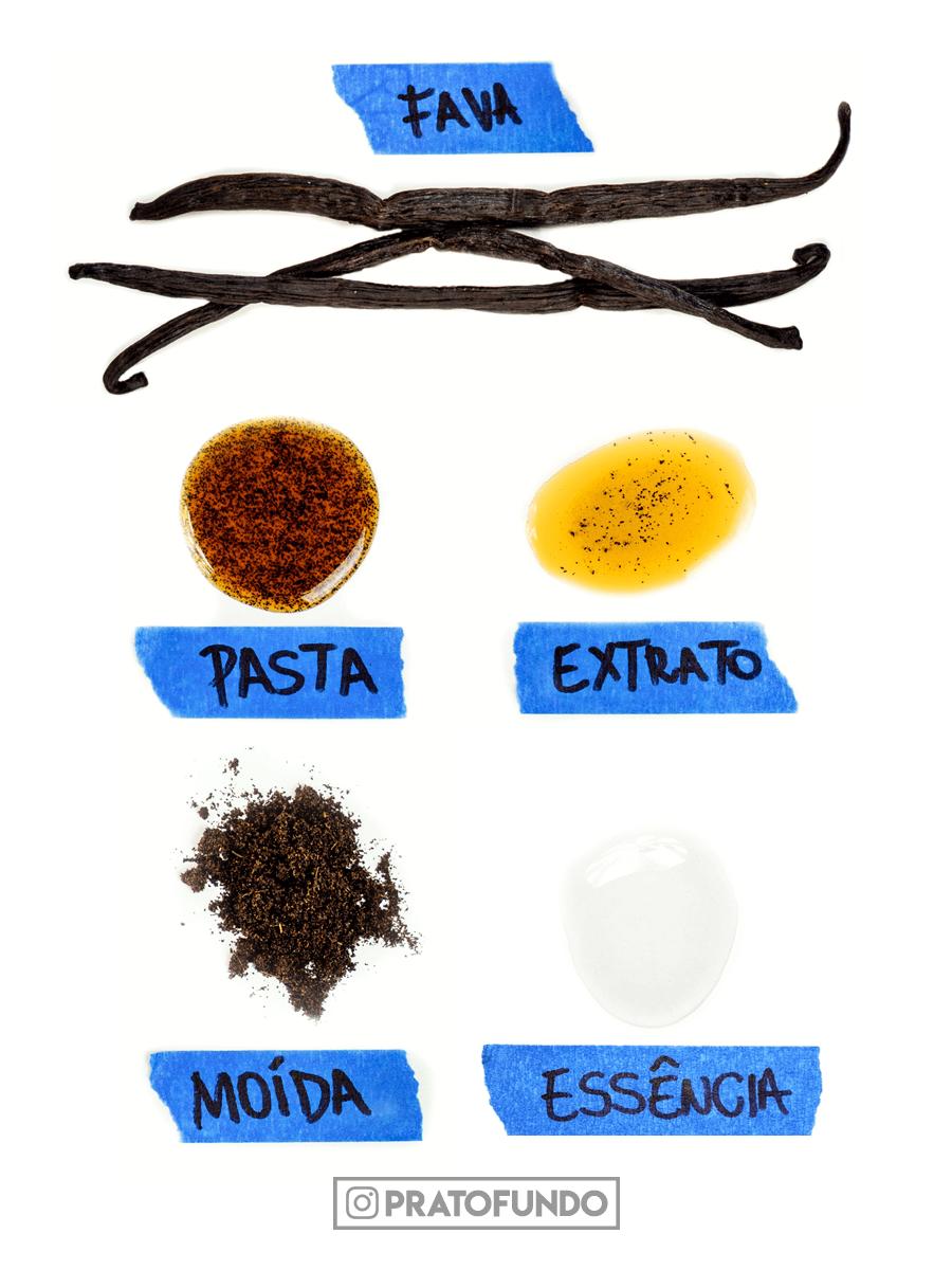Ingredientes: Fava de Baunilha - Tipos