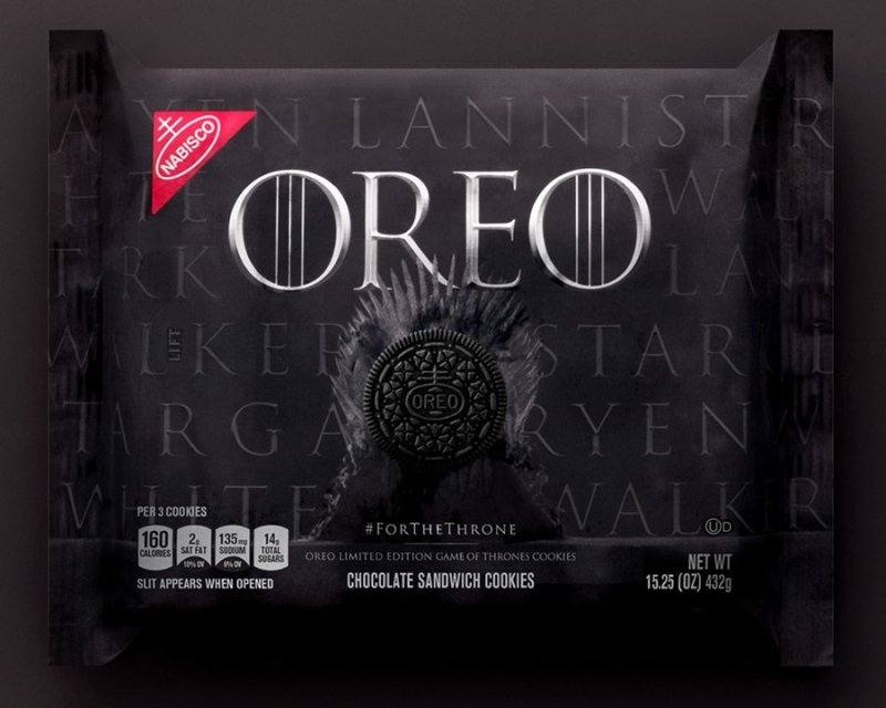 Embalagem de Oreo de Game of Thrones