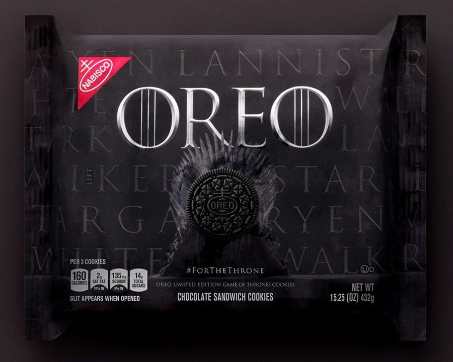 Embalagem de Oreo de Game of Thrones