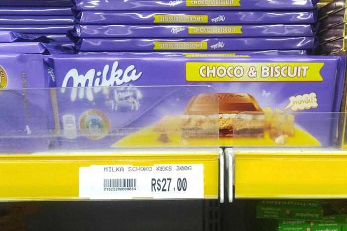 Barra Milka Choco e Biscuit por PratoFundo.com