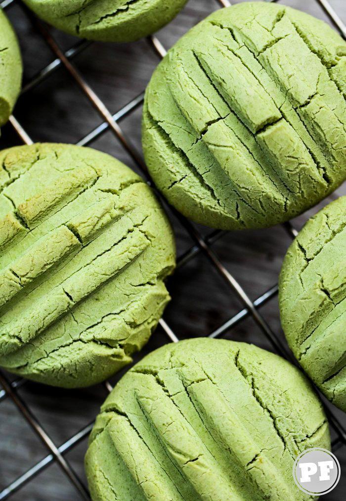 Biscoito de Leite Condensado e Matcha (Chá Verde)