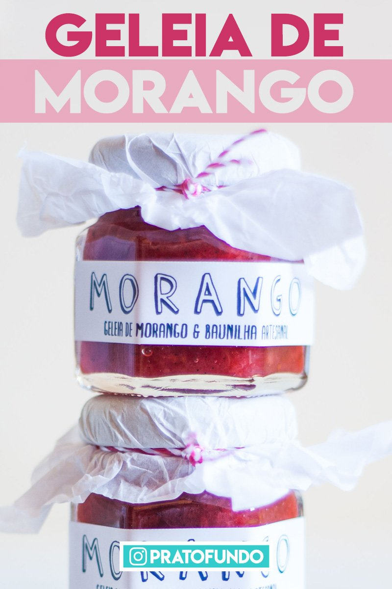 Geleia de Morango, Baunilha e Gengibre
