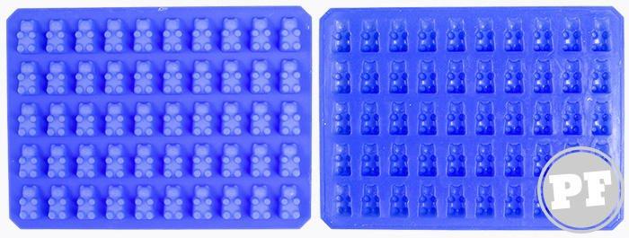 Forma de silicone para gominha em formato de ursinhos