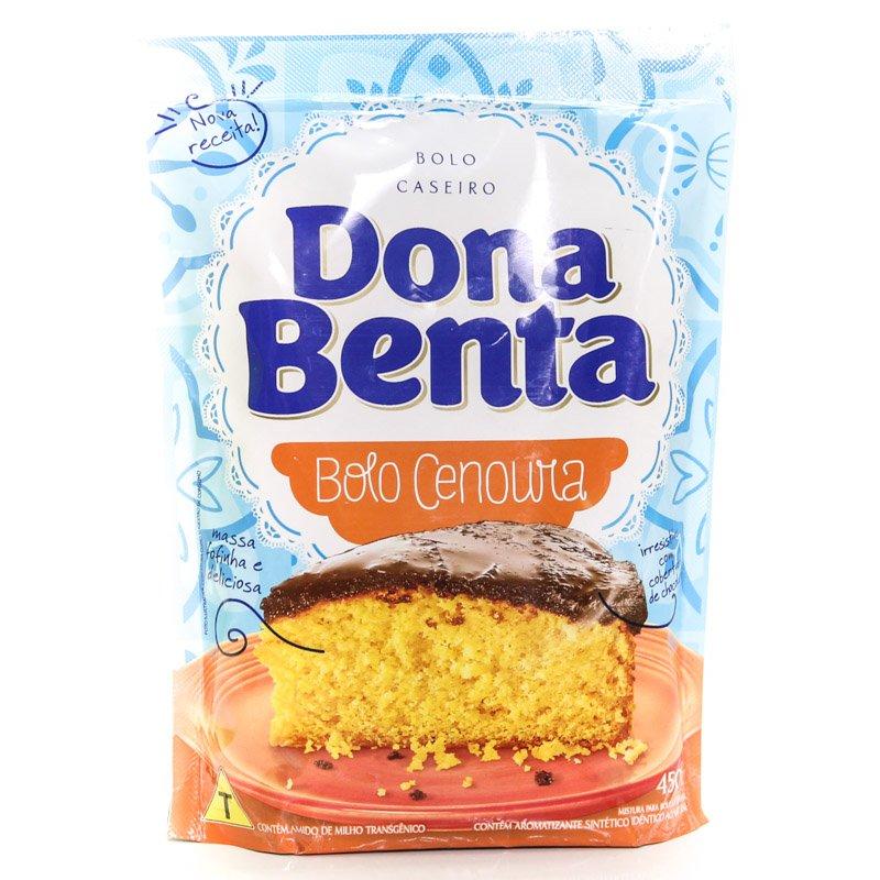 Embalagem da Dona Benta Bolo de Cenoura.