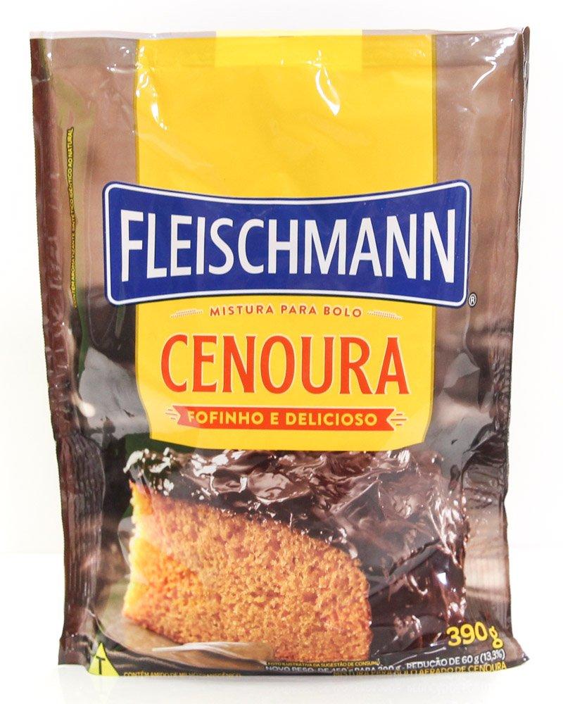 Embalagem da mistura de bolo de cenoura da Fleischmann.