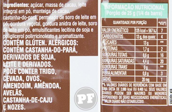Hershey's Special Milk: Castanha do Pará