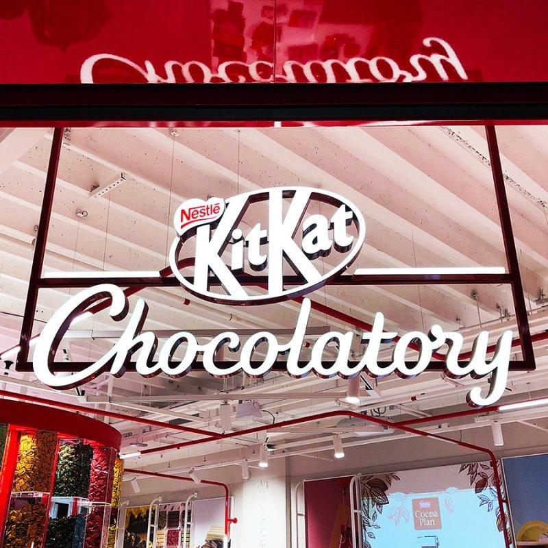 Fachada da Loja Kit Kat Chocolatory em São Paulo