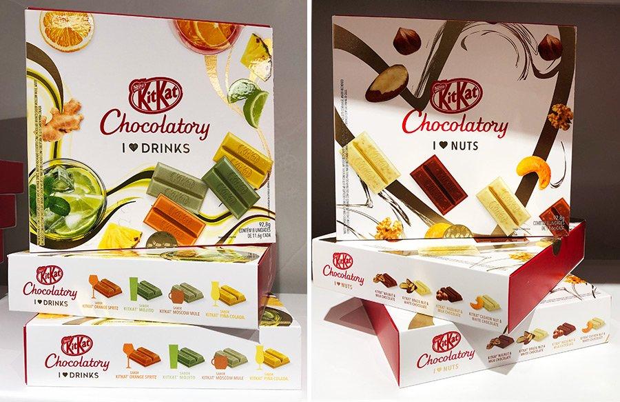 Caixas Especiais de Kit Kat: Drinks e Frutas