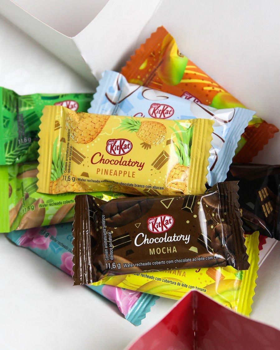 Caixa de Kit Kat de sabores diferentes