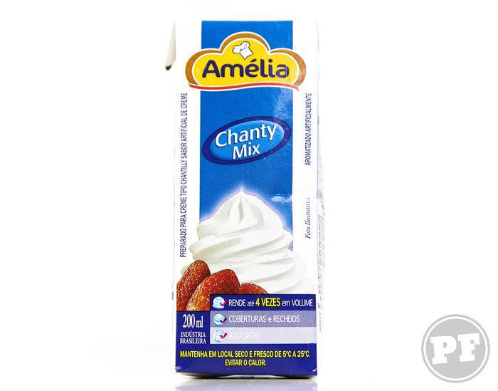 Embalagem do Chantilly Amélia de 200mL