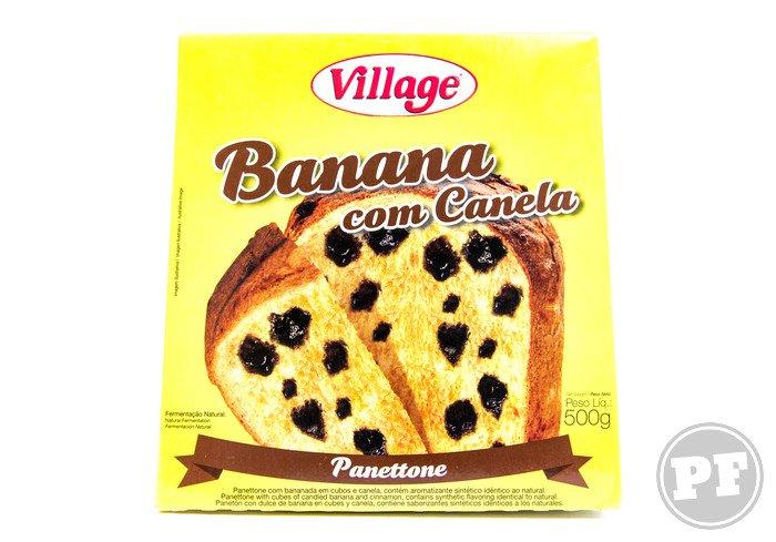 Panetone de Banana com Canela da Village por PratoFundo.com