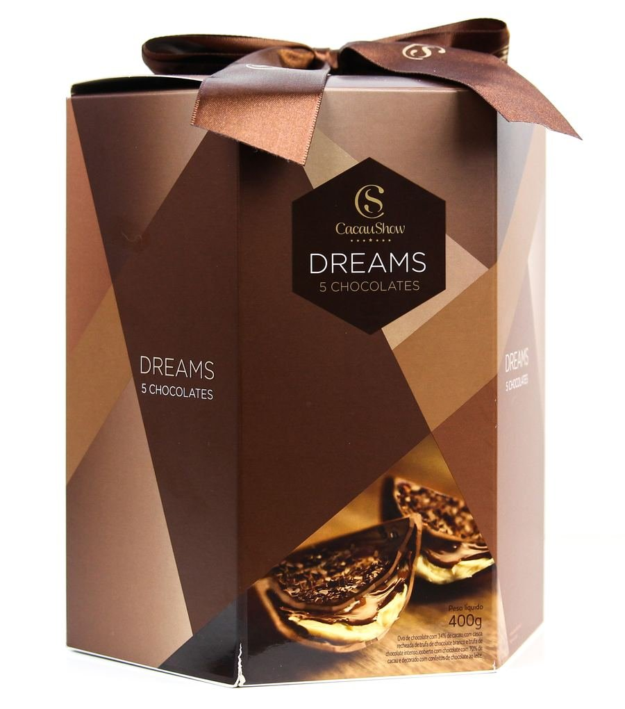 Embalagem do ovo dreams 5 chocolates