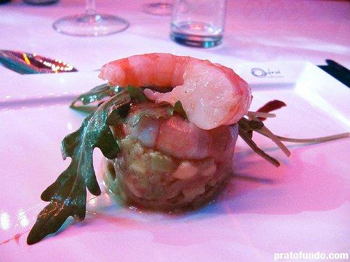 Brastemp Dinner in the Sky: Salada de guacamole, camarão e rúcula
