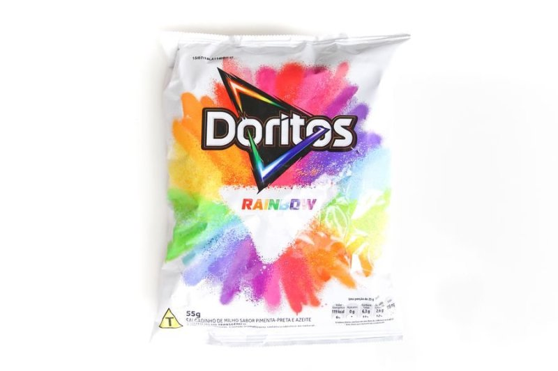 Embalagem de Doritos Rainbow
