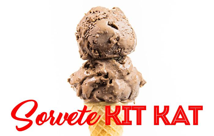 Sorvete de Kit Kat (Sem Sorveteira)
