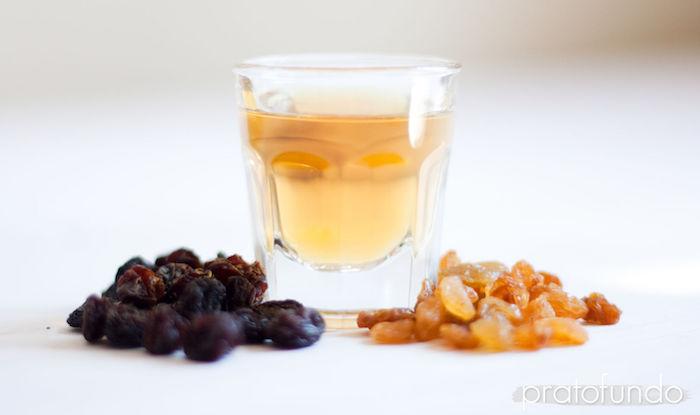 Sorvete de Passas ao Rum: Passas e Rum mesmo
