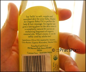 Green Apple Baby Oil by Rustic Art, rustic art baby oil, rustic art baby products review